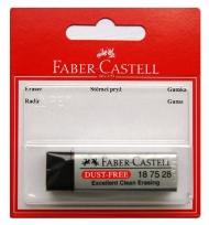Ластик Dust Free Faber-Castell, черный, в блистере
