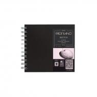 Блокнот для зарисовок Fabriano Sketch Book 110г/кв.м, 15x15см, мелкозернистая 80л, спираль