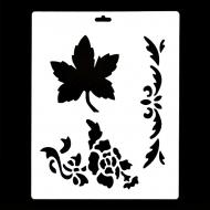 Гибкий трафарет Сонет НЕВСКАЯ ПАЛИТРА, Цветы и листья, 25,5x20,5 см