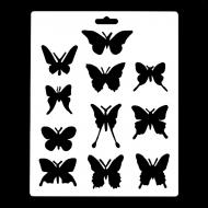 Гибкий трафарет Сонет НЕВСКАЯ ПАЛИТРА, Бабочки, 25,5х20,5 см