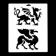 Гибкий трафарет Сонет НЕВСКАЯ ПАЛИТРА, Драконы геральдика, 25х22 см