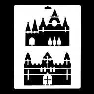 Гибкий трафарет Сонет НЕВСКАЯ ПАЛИТРА, Средневековые замки, 25х22 см