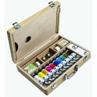 Художественный набор масляных красок Базовый Van Gogh Royal Talens, 10 цв.*40 мл, кисти и аксессуары