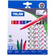"""Фломастеры Milan """"610"""", 12цв., смываемые, картон, европодвес"""