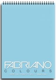 Блокнот для зарисовок Fabriano Colours 80г/м.кв 21x29,7см Селеста 100л спираль по короткой стороне