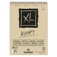 Альбом для графики Canson Xl Крафт 90г/кв.м 29.7*42см 60листов спираль по короткой стороне