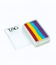 Профессиональный гипоаллергенный аквагрим Сплит-кейк TAG «Четырехцветная радуга», 30г, 4 цвета