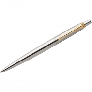 "Ручка шариковая Parker ""Jotter Stainless Steel GT"" синяя, 1,0мм, кнопочн., подар. уп."