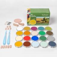 Набор ультрамягкой пастели PanPastel Landscape «Пейзаж», 20 цветов, инструменты