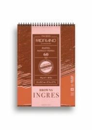 Альбом для пастели Fabriano Ingres Limited Edition 90г/м.кв 21x29,7см коричневая бумага 60л спираль по короткой стороне