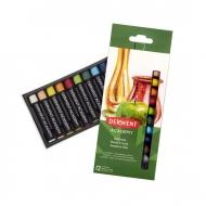 Набор масляной пастели для рисования Derwent Academy, 12 цветов