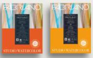 Альбом для акварели Fabriano Watercolour Studio 300г/кв.м (25%хлопок) 28x35,6см Сатин 12л склейка по 1 стороне