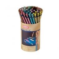 Набор цветных акварельных карандашей Derwent Metallic, 72 шт. (12 цветов х 6 шт.) в тубусе