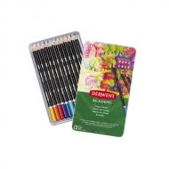Набор цветных карандашей Derwent Academy 12 цветов, металлический пенал