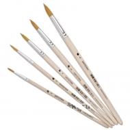 Круглые кисти синтетика Сонет, короткая ручка, №00-№5