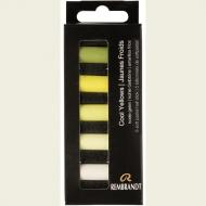 Набор сухой пастели Rembrandt Royal Talens 5цв холодный желтый картон.упак