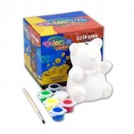 3D копилка-раскраска для детей «Мишка» COLORINO для детского творчества