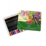 Набор цветных карандашей Derwent Academy 24 цвета, металлический пенал