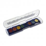 Акварельные краски металлик GIOTTO, 8 цветов, кисть в комплекте