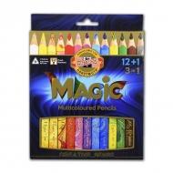 Набор карандашей с многоцветным грифелем Magic Tropical KOH-I-NOOR, 12 цветов+блендер, 3408013001KS