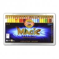 Набор карандашей с многоцветным грифелем Magic Tropical KOH-I-NOOR, 23 цвета+блендер