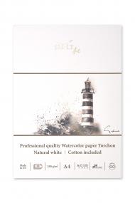 Альбом для акварели SM-LT Art Watercolor 250г/м2 (содержит хлопок) А4 10 листов Торшон склейка по одной стороне