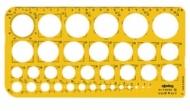 Трафарет для окружностей диаметром 1-36 мм