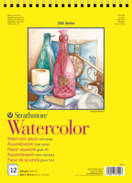 Альбом для акварели Strathmore 300 Series Watercolor 300г/кв.м, 22,9х30,5см, 12л