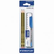 Hабор Noris Staedtler, карандаши чернографитные 2 шт, ластик, точилка, ручка, линейка
