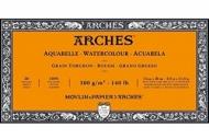 Блок для акварели Arches 300г/кв.м (хлопок) 15*30см 20л Торшон, склейка
