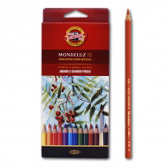 """Акварельные цветные карандаши Koh-I-Noor Mondeluz """"Натюрморт"""", 12 цветов"""