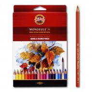 """Акварельные цветные карандаши Koh-I-Noor Mondeluz """"Натюрморт"""", 36 цветов, 3719036001KZRU"""