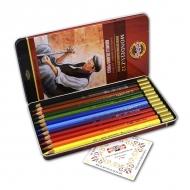 Акварельные карандаши Mondeluz KOH-I-NOOR  для художественного творчества, 12 цветов