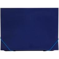Папка 13 отделений OfficeSpace, A4, 500мкм, на резинке, синяя