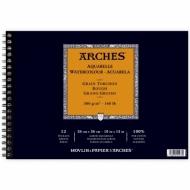 Альбом для акварели Arches 300г/кв.м (хлопок) 26*36см 12л Торшон, склейка