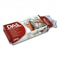 Самозатвердевающая паста для моделирования и лепки DAS FILA, белая, терракотовая, 500 г