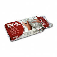Самозатвердевающая паста для моделирования и лепки DAS FILA, белая, терракотовая, 1000 г