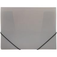 Папка на резинке OfficeSpace А4, 500мкм, серая