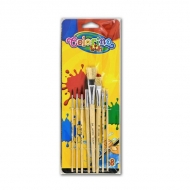 Набор кисточек для рисования COLORINO для детского творчества, 8 штук