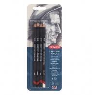 Набор угольных карандашей Derwent Charcoal 4 шт. в блистере