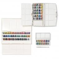 """Акварель художественная Winsor&Newton """"Cotman Painting Plus - 24 Half Pan Set"""",  24 цв, малая кювета, кисть №3, пласт. коробка"""
