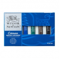 """Акварель художественная Winsor&Newton """"Cotman"""" для начинающих, 6 цв., туба 8 мл, картон. коробка"""