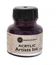 Тушь Manuscript акриловая 30мл банка стекло цвет пурпурный