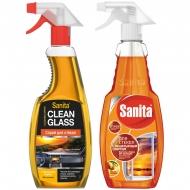 Средство для мытья стекол Sanita, с нашатырным спиртом, 500мл