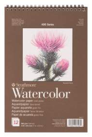Альбом для акварели Strathmore 400 Series Watercolor 300г/кв.м, 17,8х25,4см, 12л
