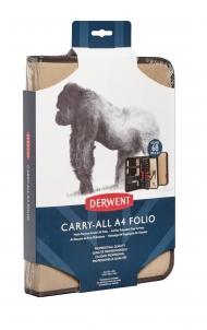 Сумка для графических материалов Derwent Carry-All A4 Folio бежевая