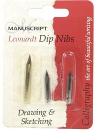 Набор для каллиграфии Manuscript Drawing&Sketching 3 штуки в блистере