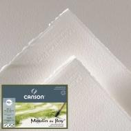Бумага для акварели Canson Moulin du Roy 300г/кв.м (хлопок) 1.3*9.15м Фин цвет натуральный белый в рулоне