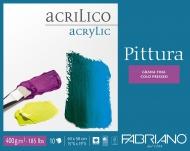 Блок для акрила Fabriano Pittura 400г/м.кв 25x35см Фин 10л склейка по 4 сторонам