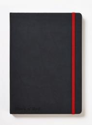 Блокнот Oxford Black n Red A5 72л фиксирующая резинка карман твердая обложка